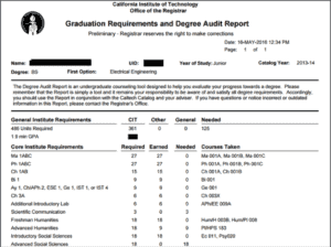 Degree Audit Example 3