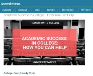 University Parent Academic Success